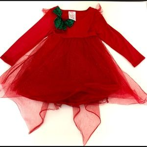 Freckles & Kitty Red Christmas Holiday Dress 5